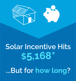Solar Incentive hit $5168...but for how long?