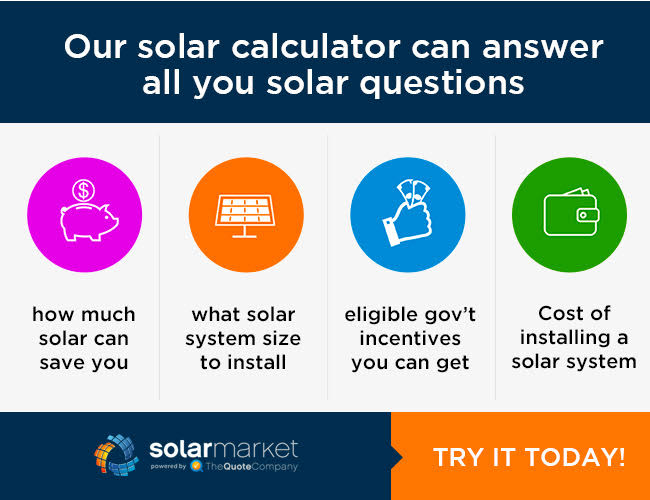 Solar Power Amp Solar Panel Savings Calculator Solar Market