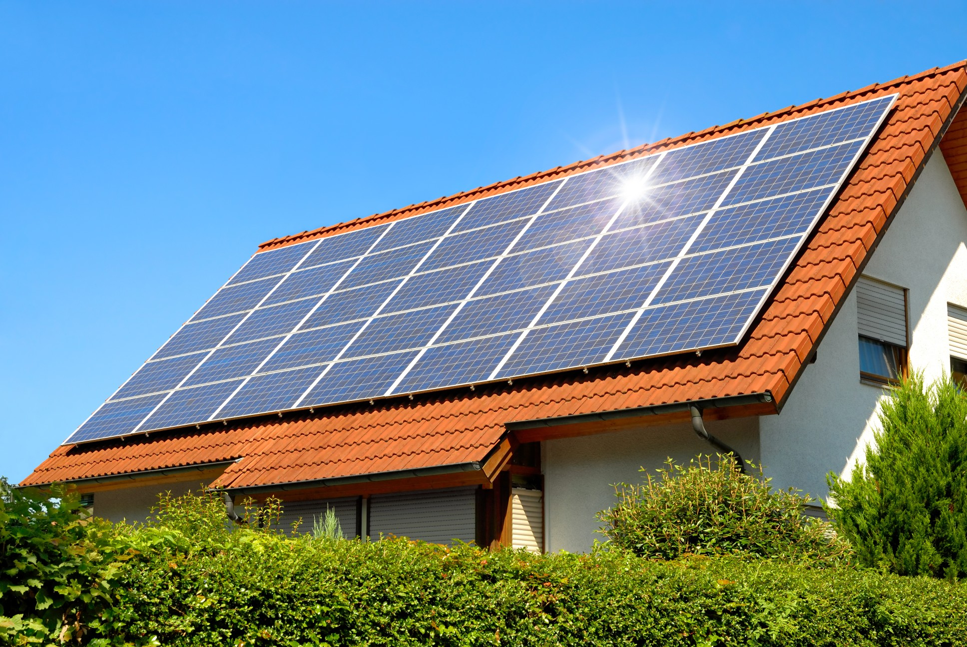 solar home with panels