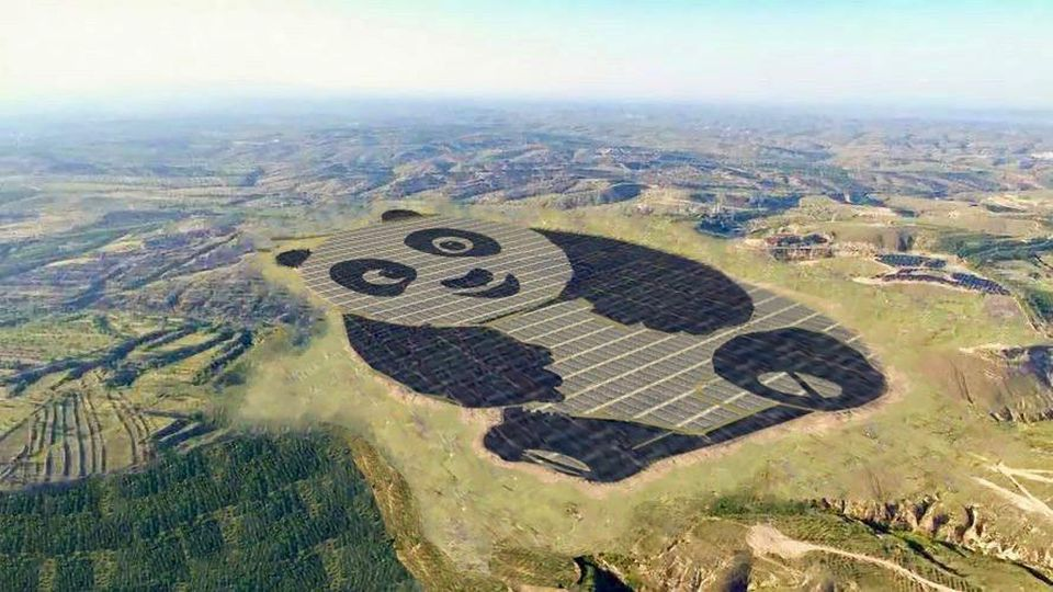 The panda solar farm in Datong, China.China Merchants New Energy/Panda Green Energy
