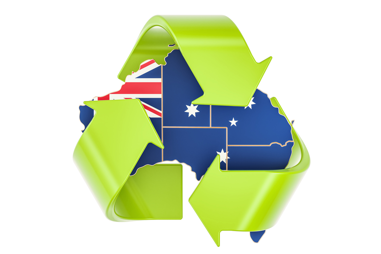 Recycling in Australia concept