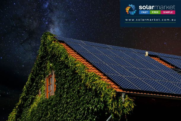 solar house night