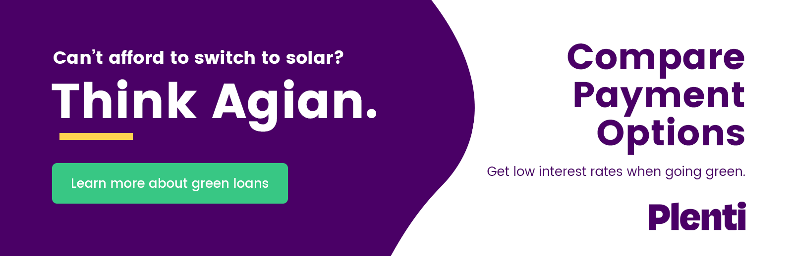 <p>Can't Afford to Switch to Solar? Think Again! Compare Payment Options. Get Low Interest Rates When Going Green!</p>